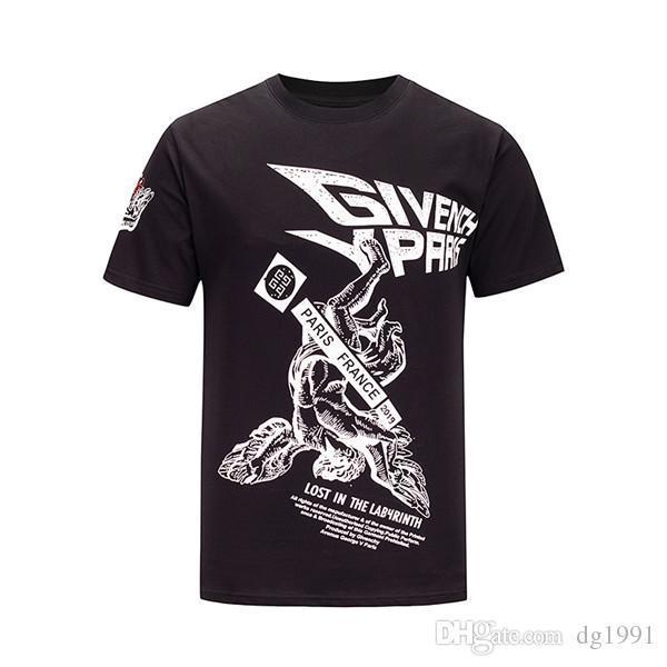 vv 19ss yeni gib Moda gündelik erkek Marka Tişört Erkek Kısa Kollu T Shirt O-Boyun medusa Erkekler yılan KÖPEK Harf polo Tee Shirt