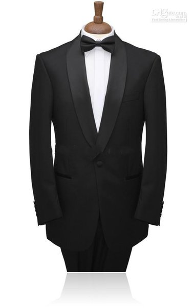 Single-Breasted Customize Groom Tuxedos Shawl Lapel Best Man Suits (Jacket+Pants+Tie+Waistband) G513