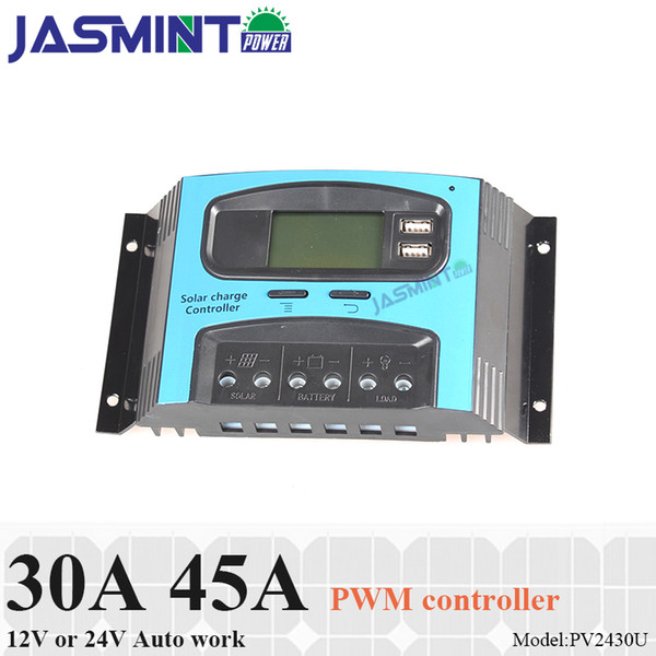 30A 40A 12/24V IP32 auto work PWM 3stage charging SOLAR charge controller with Humanized LCD display or off-grid solar system