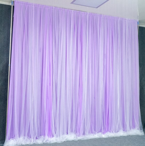 3X3M Simple White Yarn Silk Cloth Wedding Backdrop Event Party Drape Curtain for Wedding Party Home Decoration Stage Background
