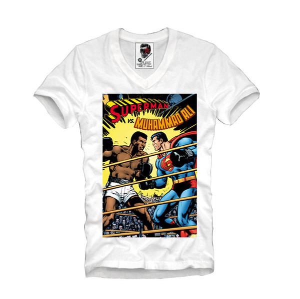 MUHA-MMAD ALI SUPER HERO MIKE TYYSON BOX-EN BOX-ING Maglietta classica alta qualità Camicie di marca jeans Stampa