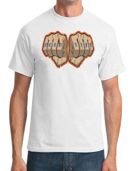 Nerd Life Tattoo on Knuckles - Drôle - T-shirt homme T-shirt 100% coton drôle