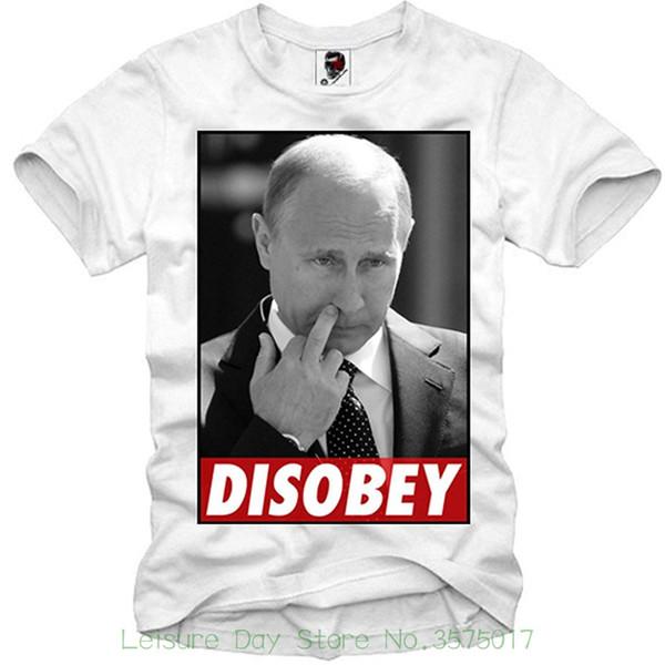 Herren Kleidung Plus Größe S M L Xl Xxl Herren T-Shirt Vladimir Putin Wladimir Ukraine Krim Disobey S / M / L / Xl