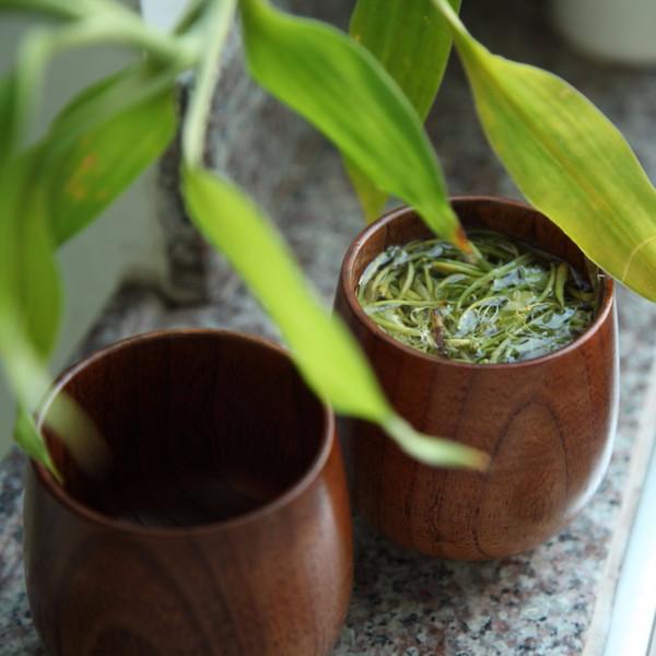 Grüner Tee-Schalen-Japan-Art natürlicher Jujube-hölzerner Schalen-ursprünglicher handgemachter natürlicher gezierter hölzerner Schalen-Frühstücks-Bier-Milch Drinkware