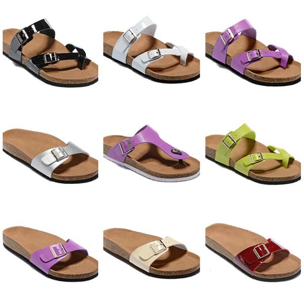 Arizona/Madrid/Medina Slipper Women Casual Shoes Single Buckle Famous Style Summer Beach Flip Flops Mens's Genuine Leather Wood Slippers