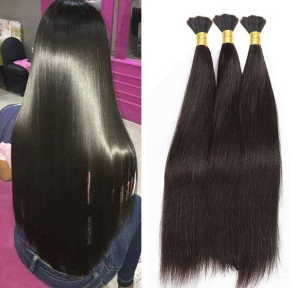 Natural Malaysian Straight Bulk Hair 100g Straight Hair Bulk Human Hair For Braiding Bulk No Attachment Soft