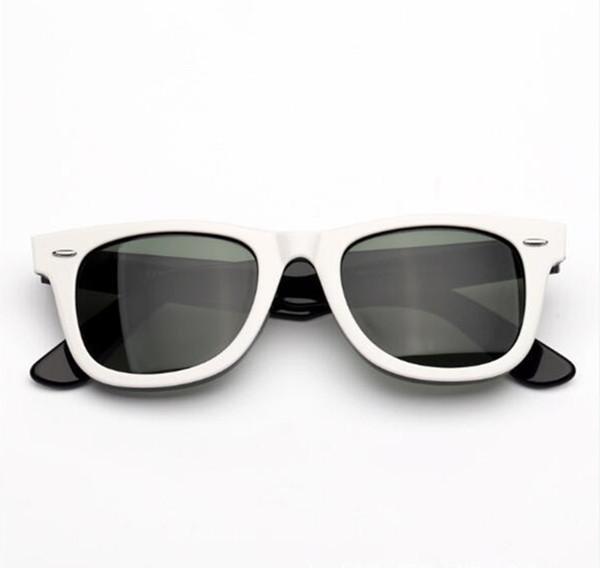 High-quality Euro-version retro-vintage unisex sunglasses UV400 50-22-150 plank HDglass lenses full-set case for prescription sunglasses