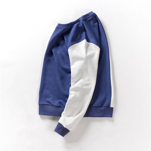 Мужская дизайнерская толстовка с капюшоном контрастного цвета в стиле свитера для мужчин и женщин бренд толстовка с длинными рукавами в полоску джемперы роскошные топы толстовка