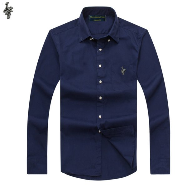 Yeni OXFORD KUMAŞ 100% PAMUK mükemmel rahat slim fit düğme yaka iş erkekler casual gömlek K882 tops