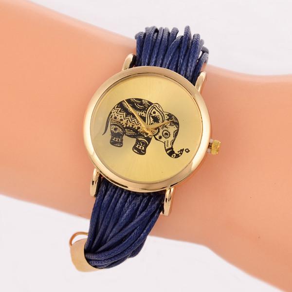 Горячий слон с узором браслета lasheng женские модные кварцевые часы