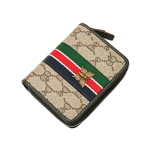 Orginal Wallets for Women Small Wallet Lady Short Wallet Bifold Leather Multi-purpose Wallet with ID Window