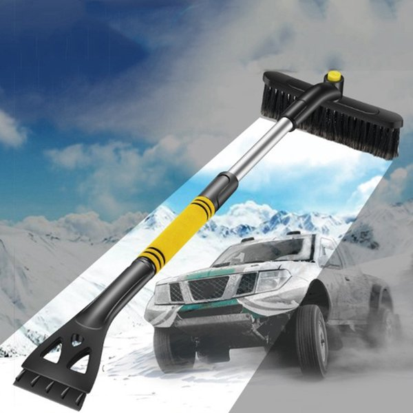1 new car snow shovel retractable snow brush scraping shovel glass frost winter de-shovel removal tool thumbnail