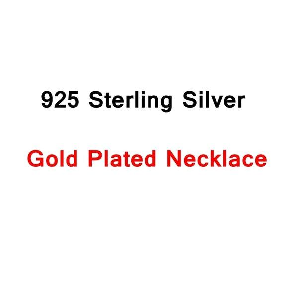Silberhalskette Gold