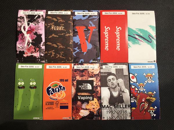 Heißer Verkauf Aufkleber für Juul Soem-Verpackungen für Juul Ausrüstungen kundengebundene Papierabdeckungs-Aufkleber E-Cig Haut mit Logo für Juul Ausrüstungs-Patronen-Hülsen