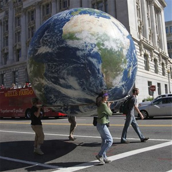 Spedizione gratuita gigante dell'elio terra palloncino New Globe gigante terra gonfiabile, sfera terra gonfiabile per la decorazione