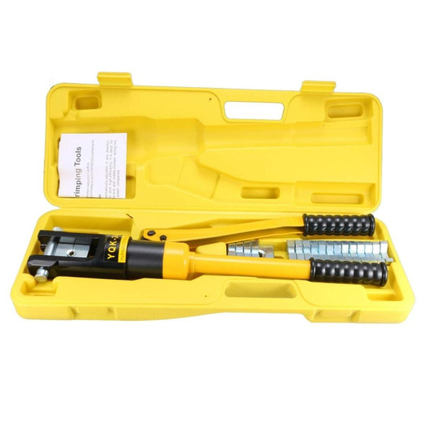 12 Ton Hydraulic Wire Cable Lug Terminal Crimpers Crimping Tool 10 Dies YQK-240
