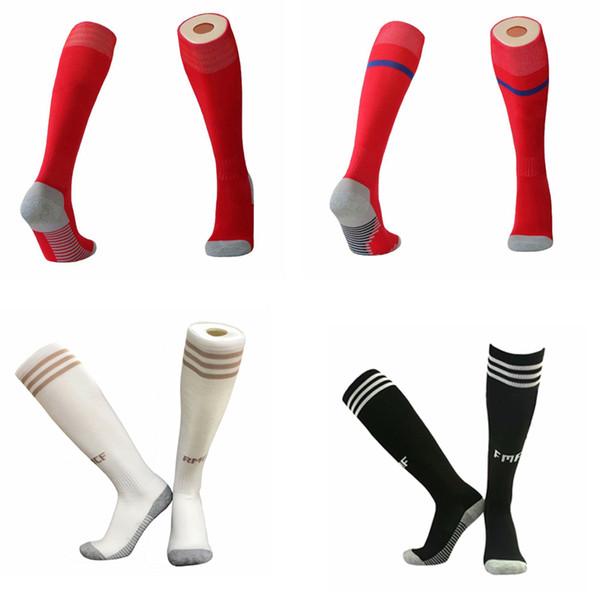 19 20 chaussettes de football Real Madrid, chaussettes de sport pour adultes, chaussettes de tennis AJAX pour hommes, genoux hauts, en coton 19 20 20 JUV Épaissir Serviette Bas de longs tuyaux