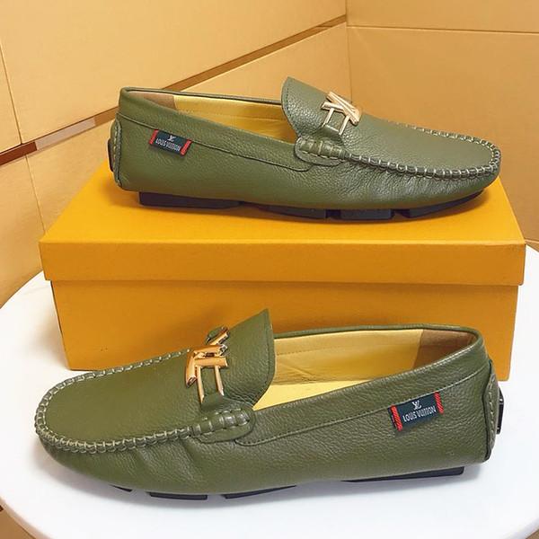 2019 лето новый топ ремесло мужская дизайнерская обувь кожаная металлическая оснастка горошек свадебная обувь классическая мода мужская обувь большого размера мокасины ку