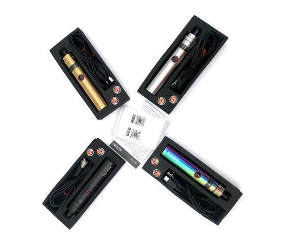 Vara AIO Starter Kits com 1600 mah bateria Mod 0.23ohm dupla bobina Atomizador Vaporizador Vape E Cigarro 4 Cores Tamanho Da Amostra