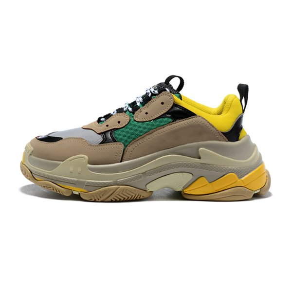 2020 Triple S Fashion Luxury Designer Shoes For Men Women Bred Black White Green Mens Trainer Platform Sports Sneakers Size 36 45 Green Shoes Most