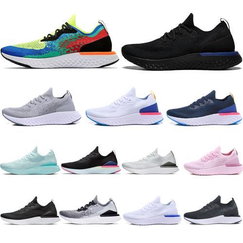 nike,Flyknit Nuevo Epic React v2 Diseñador hombre mujer mosca Zapatos PLAYA punto Sprite Bélgica PE Atardecer al amanecer BETRUE Oreo GS running sport Sneaker