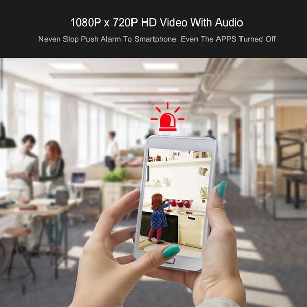 Drahtlose kleine bewegliche wifi Webcam Nachtsicht-Bewegungserkennung für Zuhause, Büro mit 128GB Karte nehmen Video mit geführtem Licht kann klar sehen