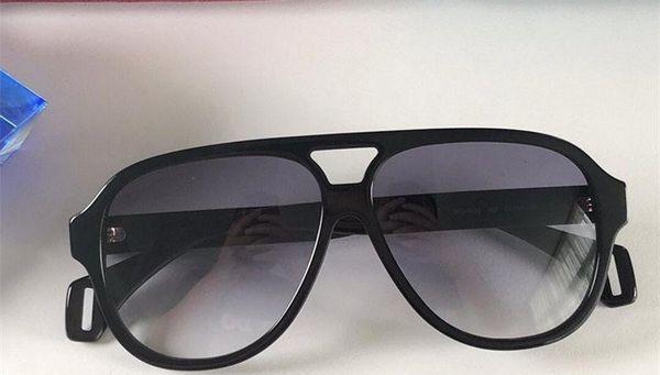 0463 designer de luxo óculos de sol para moda óculos de sol envoltório óculos de sol full frame revestimento lente do espelho de fibra de carbono pernas estilo verão.