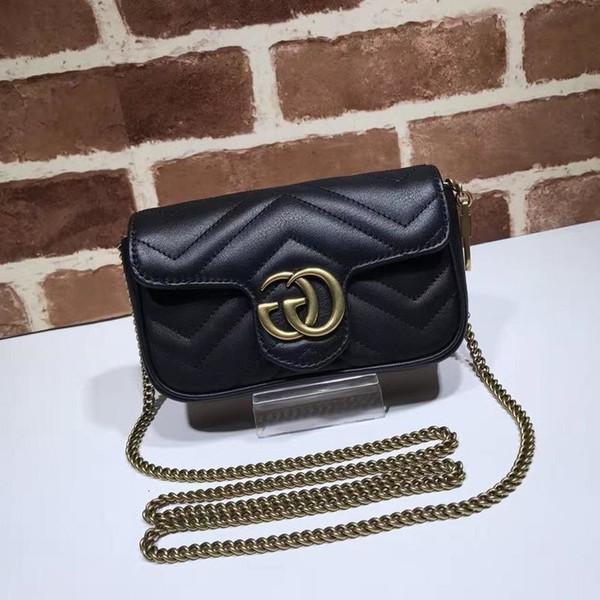 Top Quality Design lettera di goffratura stampa Borsa a tracolla cuoio genuino 20 centimetri Crossbody 476.433 Messenger Bag
