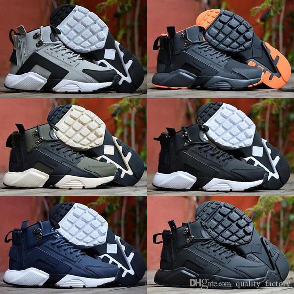 NikeHuarache 2019 neue Huarache 6 X Akronym City MID Leder Hochwertige Huaraches Laufschuhe Herren Sneakers Outdoor Schuhe Größe 7-11