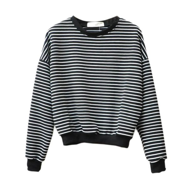 2018 Autumn Women T-Shirts Casual Long Sleeve Striped T Shirt Female Tees Cotton Ladies Tees Pullovers Tops