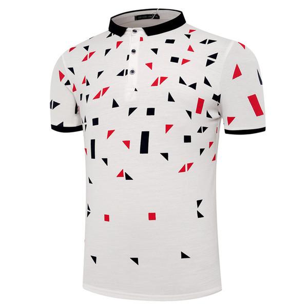 Мужские поло Лето Новый 2019 модные рубашки поло с короткими рукавами одежды Топы