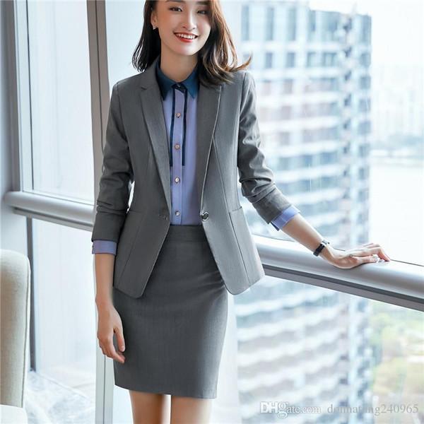 US $52.8 |Neue mode frauen anzüge OL schlank arbeitskleidung büro damen langarm blazer hose anzüge kostüme für frauen mit einem hosen in Hosenanzüge