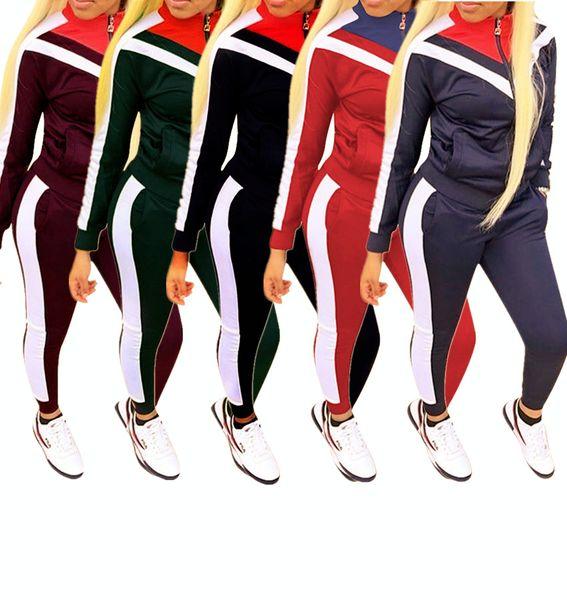 Kadın giyim kadın moda eşofman bayanlar uzun kollu hoodie ve sweatpants set kadının 2 parça