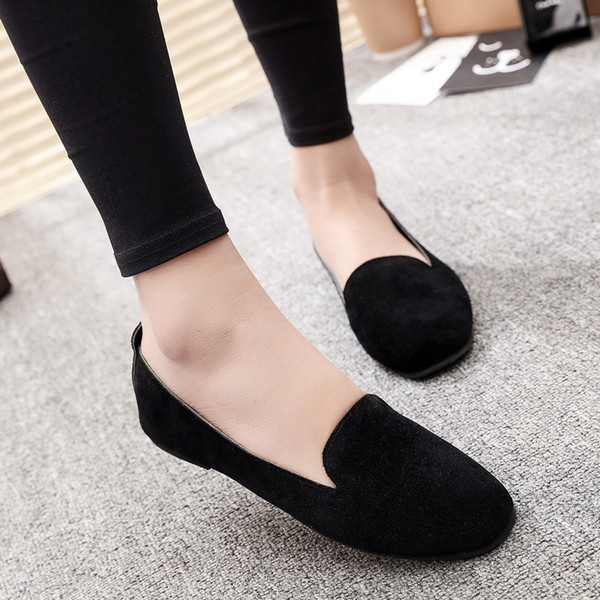 Top33 venta caliente para mujer zapatos de moda estilo más nuevo para mujer zapatos planos de cuero de alta calidad zapatos de suela blanda con caja size35-41