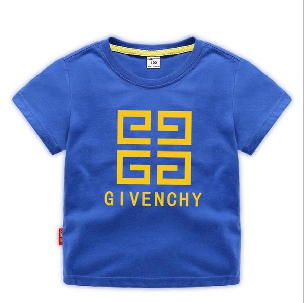 top popular 2019 Fashion Summer Boys girls Clothing Children Designer Short Sleeve T-shirt Kids Print Cat Shirt Tops Boy Tees 2-8T Years 2020