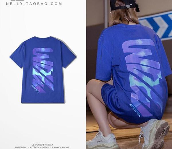 Mens Designer T-shirt New Type Chao T-shirt Fashion Breathable Hip-hop Dress Men and Women's Korean Version Loose Couple Short Sleev Tee
