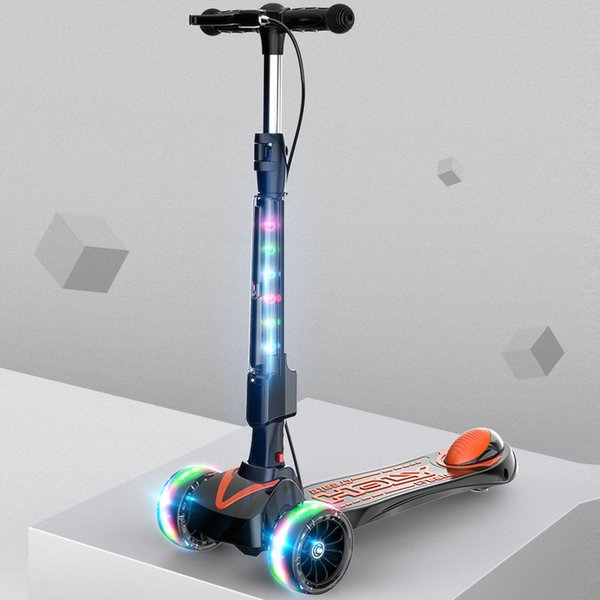 высокое качество регулируемая по высоте широкая шина 4 колеса детский самокат детский удар самокат детский 3 колеса