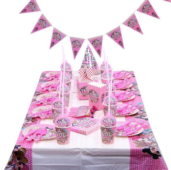 Enfants Surprise Bébé Tasses Jetables Vaisselle De Table Plaque De Tissu Couteau Fourchette Cuillères Autocollant Fête D'anniversaire Décoration Serviettes Fournitures A364