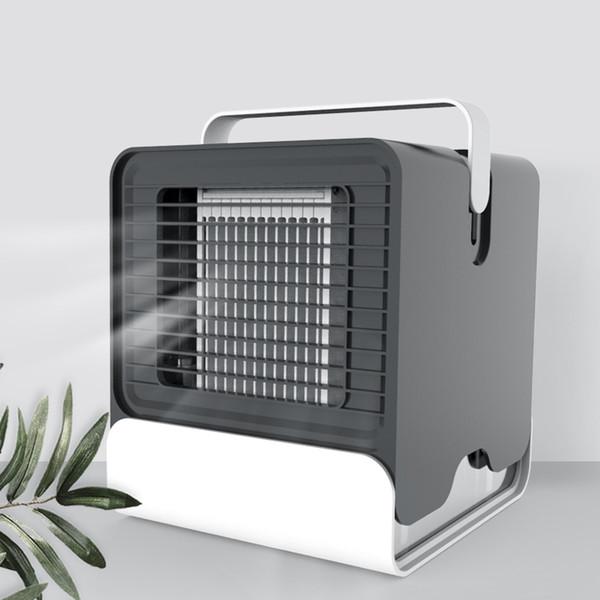 Mini USB de escritorio Coole aire del ventilador del acondicionador de aire portátil r Oficina compartida ventilador de refrigeración móvil con luces LED