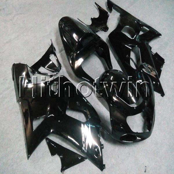 Gift + Viti cappottino moto nero per Suzuki GSX-R600750 2001 2002 2003 Carenatura motore in plastica ABS