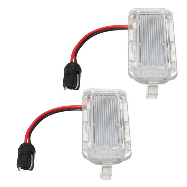 1 Pair of LED Rear Number License Plate Light For Ford For Fiesta Focus Kuga Mondeo Number Plate Lamp Bright White