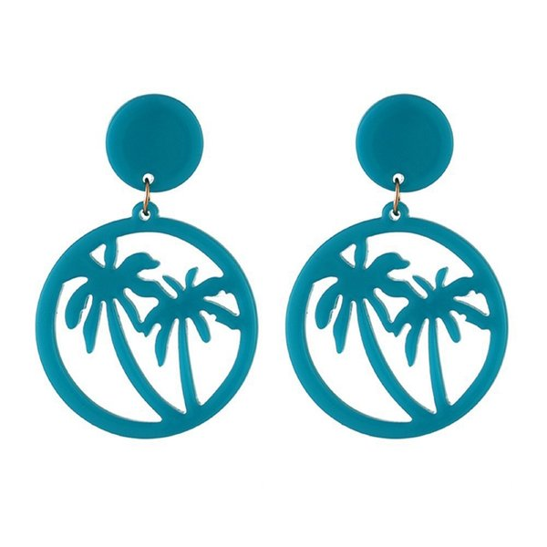 Fashion Simple Hollow Coconut Earrings Simple Fluorescent Earrings