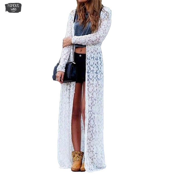 Summer 3Xl Plus Size 4Xl Halter 5Xl Women 2019 Floral Lace Semi Sheer Solid Front Long Beach Cover Up Tops