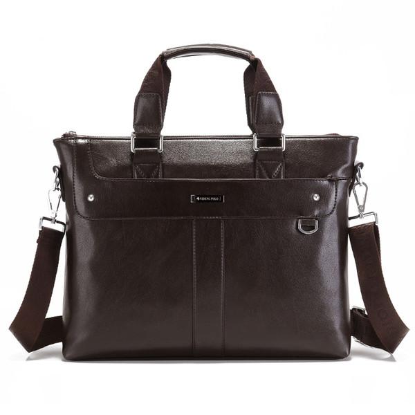 Портфель для мужчин Бизнес сумка для ноутбука Office Tote A4 Повседневная сумка через плечо Мужская кожаная сумка Messenger Work