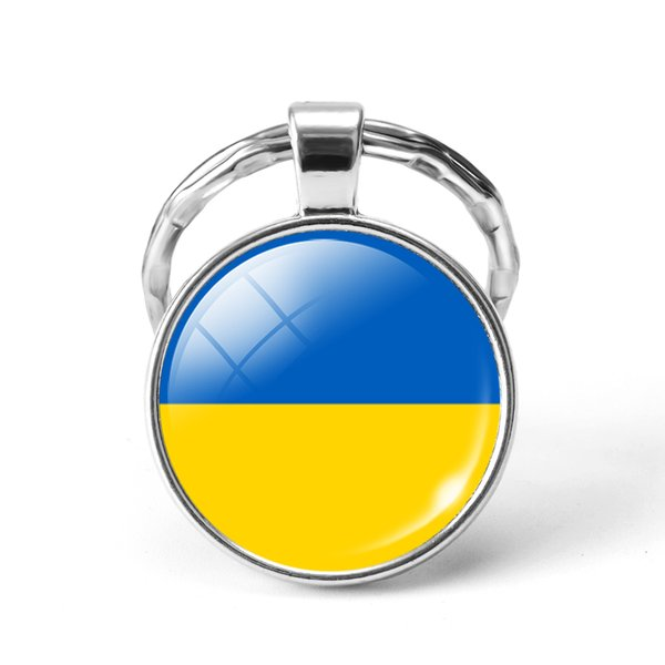 Style5 Vogue Newest Metal Football World Cup Key chain National Flag Glass Dome Cabochon Key ring