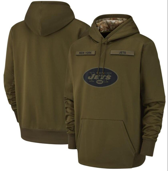 2019 Men Women Youth New YorkJets Sweatshirt Salute to Service Sideline Therma Performance Pullover nflHoodie Olive