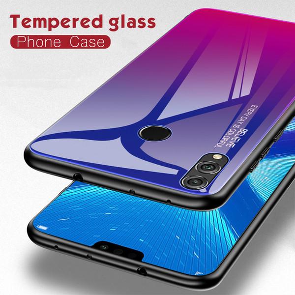 Per Huawei Honor 7A 7C 8A 8X Max 9i Lite shell Honor 10 i Lite specchio in vetro sfumato semplice personalità tutto compreso ultra sottile