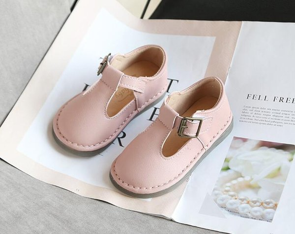 top popular 2020 spring children's beanie shoes girls leather shoes casual single shoes boys 2021