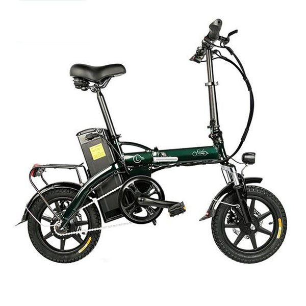 top popular Lightweight Aluminum Alloy Folding Bicycle With Tire 250W Hub Motor 2020