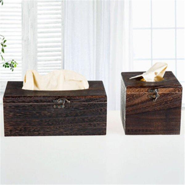 Vintage Wooden Retro Tissue Box Cover Paper Napkin Holder Case Home Car Decor New free shiping